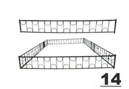 14 ограда на кладбище