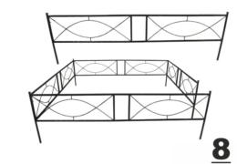 8 установка оградки на могилу