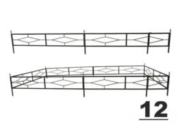 12 ограда на могилу